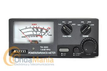NISSEI TM-3000 MEDIDOR DE ROE Y VATIMETRO DE 1.6 A 60 MHZ