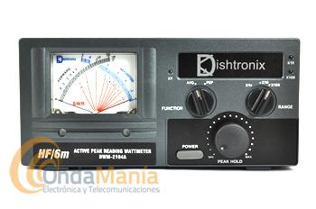 DISHTRONIX/NISSEI DWM-2104A MEDIDOR DE ESTACIONARIAS Y VATIMETRO DE HF Y 6 M DE AGUJAS CRUZADAS