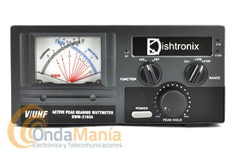 DISHTRONIX/NISSEI DWM-2103A MEDIDOR DE ESTACIONARIAS Y VATIMETRO DE V/UHF AGUJAS CRUZADAS - Medidor de estacionarias SWR y vatimetro de agujas cruzadas para VHF y UHF con una potencia máxima de 500 W.