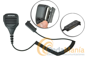 MIA-120G2/BR-02MC MICRO-ALTAVOZ PARA MATRA EADS SMART Y EASY - Micrófono altavoz de altas prestaciones para walkies Tetrapol Matra Eads modelos Smart y Easy