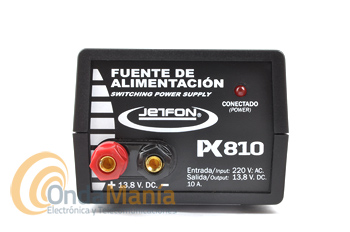 JETFON PC-810 FUENTE DE ALIMENTACION 10 AMP.