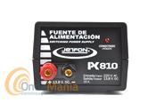 JETFON PC-810 FUENTE DE ALIMENTACION 10 AMP. - Fuente de alimentación conmutada y estabilizada de 10 Amp. max.