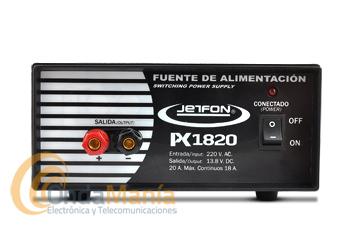 JETFON PC-1820/PK1820 FUENTE DE ALIMENTACION DE 18/20 AMP. - Fuente de alimentación conmutada y estabilizada de 18 Amp. continuos y 20 Amp. de pico.