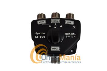 CS-301 CONMUTADOR DE ANTENA 3 POSICIONES