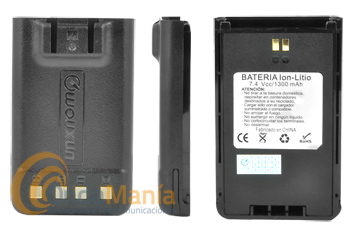 BATERIA WOUXUN 7,4 V Y 1300 MAH COMPATIBLE CON LOS KG-UV899/818/859 - Bateríade litio con 7,4 V y 1300 mAh compatibles con los Wouxun KG-UV899, KG-818, KG-859,...