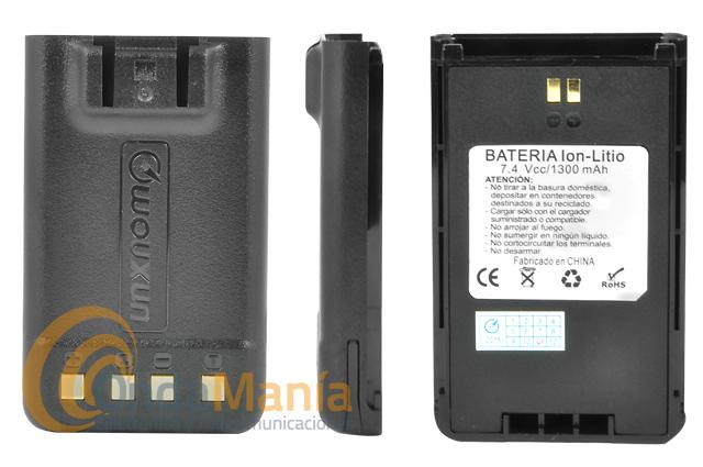 BATERIA WOUXUN 7,4 V Y 1300 MAH COMPATIBLE CON LOS KG-UV899/818/859