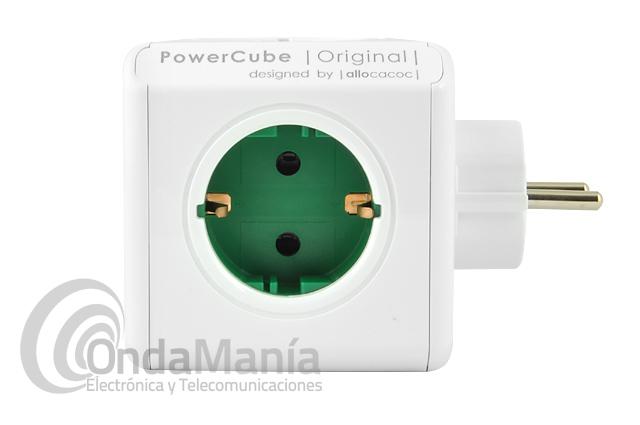 POWER CUBE EXTENDED CON 5 TOMAS DE RED - El PowerCube es un cubo con 5 tomas dealimentación con una capacidad de 16 Amp. Los cubos se pueden apilar en forma de regleta.