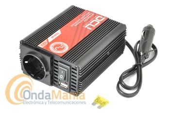 DCU-150-12V INVERSOR DE ONDA MODIFICADA GAMA BASIC 12V 150W - Inversor de corriente de la Gama DCU Basic de 12V a 220V con una potencia continua de 150W Onda Modificada. La gama básica de inversores DCU, presenta un sistema electrónico eficiente y de bajo consumo, aprobado por las entidades reguladoras de la UE.