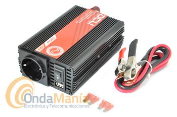 DCU-600-12V CONVERSOR/INVERTER 12V A 220V CON 600W ONDA MODIFICADA - Inversor de corriente de la Gama DCU Basic de 12V a 220V con una potencia continua de 600W Onda Modificada. La gama básica de inversores DCU, presenta un sistema electrónico eficiente y de bajo consumo, aprobado por las entidades reguladoras de la UE.