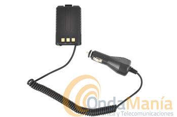 ELIMINADOR DE BATERIA PARA BAOFENG UV-5R - Con este adaptador puede conectar el walky Baofeng UV-5 a la toma de encendedor de su vehículo o fuente de alimentación a 12V.