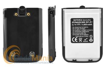 BATERIA DE LITIO PARA DYNASCAN 1D NEGRO - Batería de litio con 3,7 V y 1800 mAh para el Dynascan 1D negro