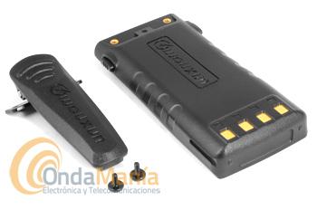 BATERIA PARA EL WOUXUN KG-UV9D CON 7,4 V Y 2000 MAH  - Batería para el Wouxun KG-UV9D de Ion-Litio con 7,4 V y 2000 mAh, incluye clip de cinturón y tornillos.