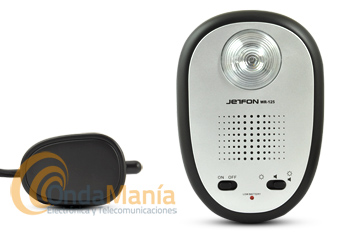 JETFON WR-125 TIMBRE SUPLETORO INALAMBRICO PARA TELEFONO - Timbre telefónico supletorio inalámbrico especialmente indicado para personas con deficiencias auditivas o ambientes ruidosos