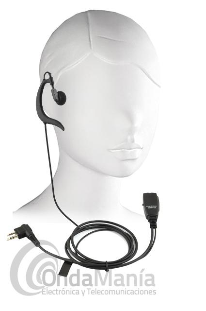 YAESU SSM-512B MICRO AURICULAR CON PTT Y VOX - El Yaesu SSM-512B es un pinganillo con un conmutador en su micrófono/PTT que nos permite utilizar el Walky con PTT o con VOX (activación de TX por voz), dispone de auricular ergonómico con sujeción en la oreja. El micrófono tiene clip metálico.