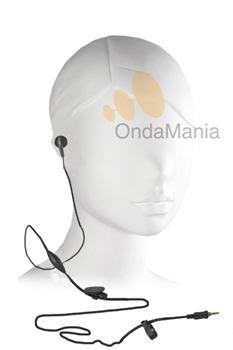MICROFONO AURICULAR PARA TOPCOM - Micrófono auricular (pinganillo) con pulsador PTT para PMR Topcom Twintalker 9500, 7100, 6800....