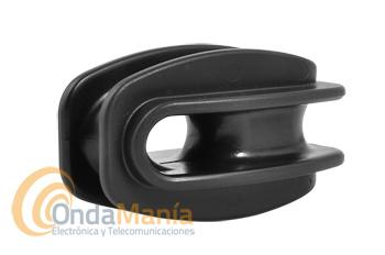 AISLADOR DE PLASTICO TIPO HUEVO - Aislador de antena de plástico tipo huevo.