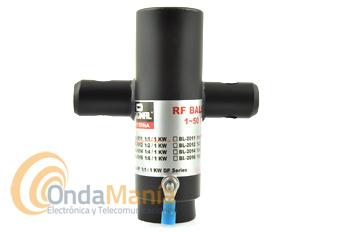 D-ORIGINAL BL-1012 BALUN 1:2 / 1 KW / 1 - 50 MHZ - Balun 1:2 con un rango de frecuencia de 1 a 50 Mhz y una potencia máxima de 1 KW y 50 Ohm.