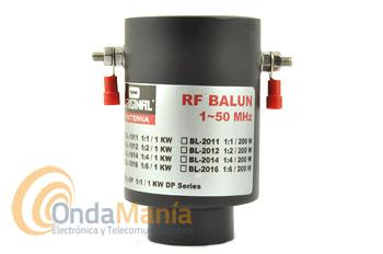 D-ORIGINAL BL-DP - BALUN 1:1 1KW PARA ANTENAS DP-1040 / DP-1080 - Balun 1:1 con una relación 1:1 y un margen de frecuencia de 10 - 80 m y una potencia máxima de 1 KW en SSB y CW