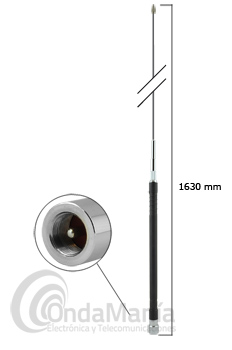 D-ORIGINAL DX-HF80 ANTENA MOVIL MONO-BANDA PARA 80 MTS