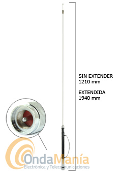 D-ORIGINAL HF-750 SUPER ANTENA MOVIL HF 7 BANDAS + 50 MHZ