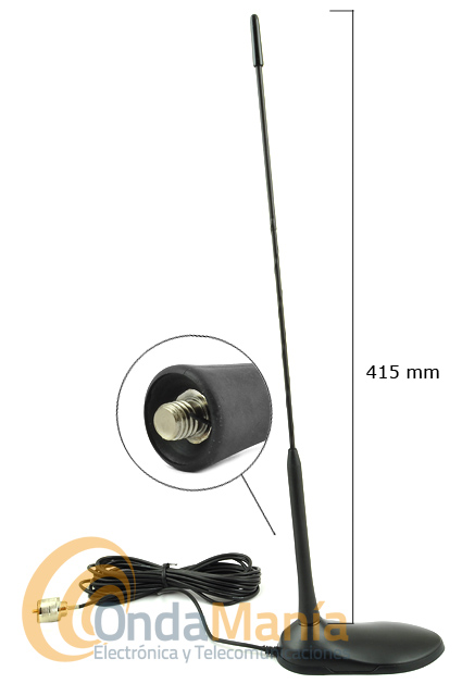 TORNADO MAGNETICA V/U ANTENA DOBLE BANDA UHF/VHF