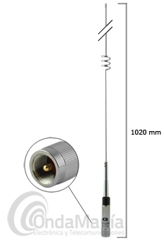 KOMUNICA POWER PWR-NR-770H ANTENA DOBLE BANDA VHF / UHF PARA MOVIL