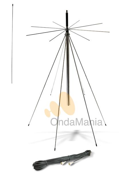 ANTENA DISCONO DIAMOND D-130 (ORIGINAL JAPON)  - Antena Discono Diamond (original Japonesa) ideal para escaner con un ancho de banda de 25 a 1300 Mhz en recepción y puede transmitir en 50, 144 y 430 Mhz.