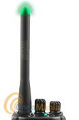 JETFON DB-110M ANTENA DOBLE BANDA CON LED VERDE Y SMA MACHO - Antena doble banda VHF/UHF con led verde en la punta el cual se ilumina al transmitir, tiene una longitud de 11,5 cm y un conector SMA macho.