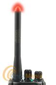 JETFON DB-110F ANTENA DOBLE BANDA CON LED Y SMA INVERTIDO - Antena doble banda VHF/UHF con led rojo en la punta el cual se ilumina al transmitir, tiene una longitud de 11,5 cm y un conector SMA hembra (SMA invertido).