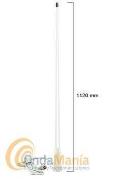 NVF-3 ANTENA MARINA VHF CON SOPORTE DE CUBIERTA