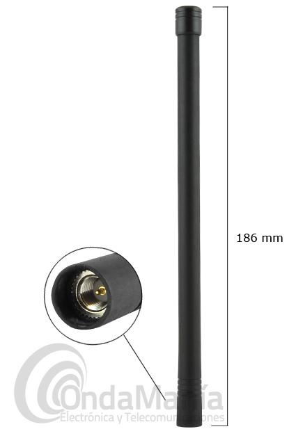 VERTEX-STANDART ATV-6XL ANTENA VHF SMA AJUSTABLE - Antena ajustable 135 a 174 Mhz para walki con conector SMA macho, incluye tabla de corte.