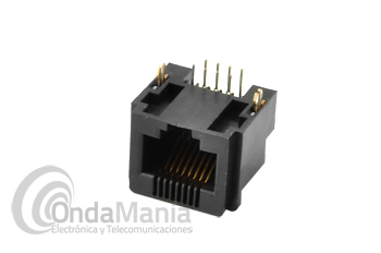 CONECTOR DE MICROFONO PARA EL YAESU FT-817 - Conector de micrófono hembra interno tipo RJ para el Yaesu FT-817