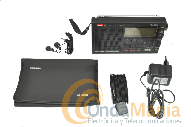 TECSUN PL-600 RECEPTOR MULTIBANDA LW/MW/SW-SSB/FM ESTEREO/... - Receptor de doble conversión con sintetización por PLL, con un rango de frecuencias de 87 a 108 Mhz, 1711 a 29999 kHz en MW, SW-SSB, LW y FM estéreo.