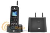 MOTOROLA O201 TELEFONO S/H DECT DE LARGO ALCANCE COLOR NEGRO - Teléfono inalámbrico Dect robusto y resistente al polvo y agua IP67 con un alcance de hasta un 30% más que un teléfono inalámbrico clásico, dispone de una agenda con 200 contactos y números, gran LCD, identificador de llamadas,...