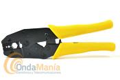 HT-336K TENAZA PARA CRIMPAR  - Tenaza para crimpar conectores en cables RGB, RG-213, RG-11, RG-174, RG-179, RG-8,...