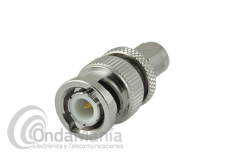 ADAPTADOR BNC MACHO A SMA MACHO