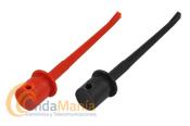 PAREJA DE CLIP IC TIPO MEDIANO ROJO Y NEGRO  - Pareja de clip IC tipo mediano rojo y negro