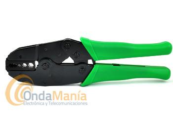 HT-336G TENAZA PARA CRIMPAR  - Tenaza para crimpar conectores en cables RG-58, RG-59, RG-62, RG-174 y fibra óptica