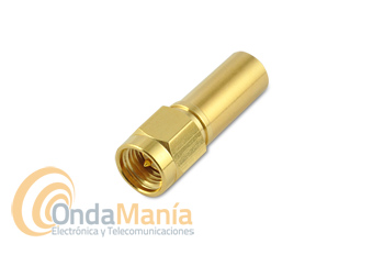 CONECTOR SMA MACHO DORADO PARA CRIMPAR EN RG-58