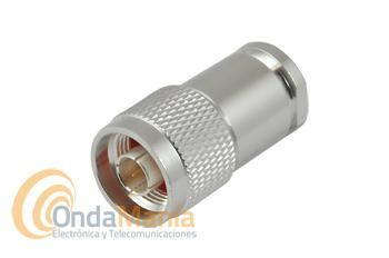 CONECTOR N MACHO ALTA CALIDAD PLATA PARA CABLE RG-213, H-2000,...
