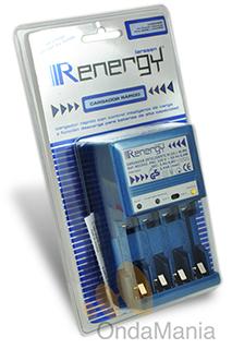 CARGADOR DE BATERIAS RENERGY REC-002 - Cargador automáticocon descargador para baterías recargables tipo AA (R6) y AAA (LR03)
