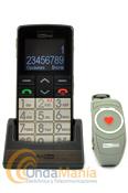 """TELEFONO MOVIL MAXCOM MM715 - Teléfono perfecto para los ancianos y las personas con problemas de salud. El dispositivo está equipado con muchas funciones facilitar su funcionamiento, por ejemplo, la pantalla LCD a color de 1,8 """". Equipado con el botón dedicado SOS y pulsera SOS adicional conectado con el dispositivo, lo que permite la activación de llamada rápida para obtener ayuda en caso de emergencia."""