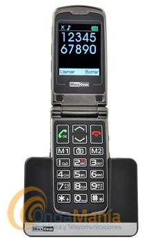 TELEFONO MOVIL MAXCOM MM822 BB ( LIQUIDACION POR CAJA EN MAL ESTADO) - Teléfono móvil con pantalla y teclado de gran tamaño. Botón de emergencia SOS en la parte trasera. Pensado para personas con problemas de visión o mayores.