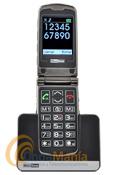 TELEFONO MOVIL MAXCOM MM822 BB - Teléfono móvil con pantalla y teclado de gran tamaño. Botón de emergencia SOS en la parte trasera. Pensado para personas con problemas de visión o mayores.