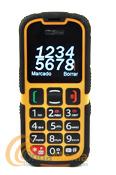 """TELEFONO MOVIL MAXCOM MM910 NORMA IP 67 - Teléfono móvil GSM resistente al polvo, el agua y el barro. Teclas grandes para poder usarlo con guantes. Pantalla a color de 2"""". Factor de protección IP67."""