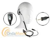 130R-VX7 - Micro-auricular ergonómico ligero con cable rizado para Alinco DJ-V17E, Yaesu VX-7/ VX-120/VX-170, etc.