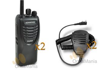 PAREJA DE KENWOOD TK-3301 CON DOS MICRO-ALTAVOCES