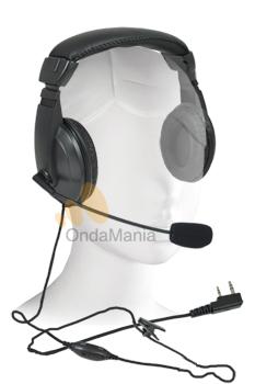 TEAM H & G  PR-2093 - Los micrófono auriculares Team H & G-420E son herméticos lo que los hacen ideales para trabajar en ambientes ruidosos, están adaptados para Kenwood, Kirisum y Midland Alan CT-200/210.