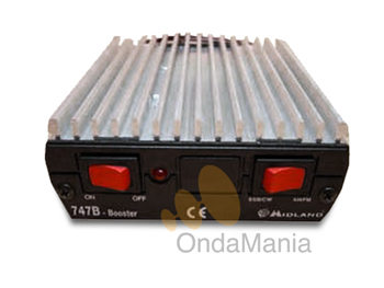 MIDLAND HF747 - El amplificador lineal Midland 747b nos entrega una potencia máxima de 100W de salida con una entrada de señal de 0,5 a 10 W.