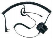 ABM TACTICAL - Micro-auricular con boom ajustable (norma militar)y PTT táctico con jack 2 pin a 90º.